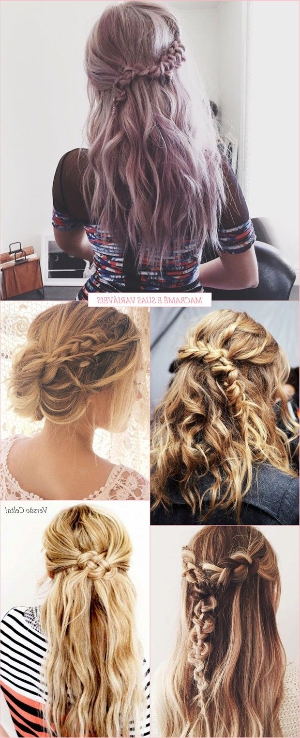 Pinterest With Regard To Most Up To Date Macrame Braid Hairstyles (View 18 of 20)