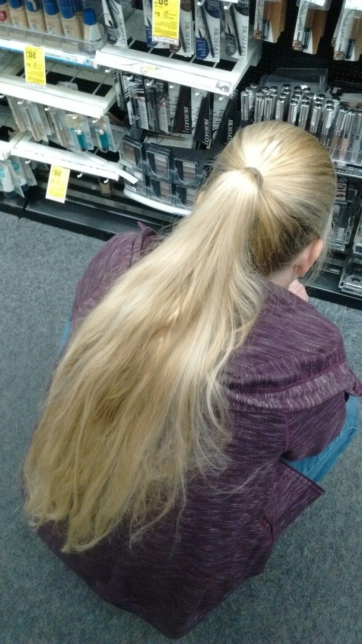 Pinterest Within 2017 Waist Length Ponytail Hairstyles With Bangs (View 17 of 20)
