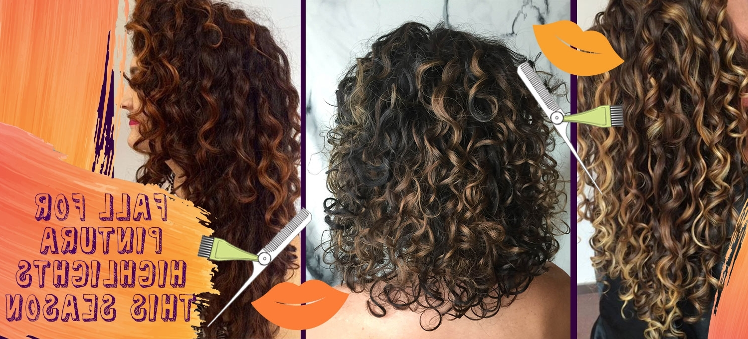 Pintura Highlights The Color Method For Curly Hair – Devacurl Blog In Most Up To Date Loose Curls Blonde With Streaks (View 16 of 20)