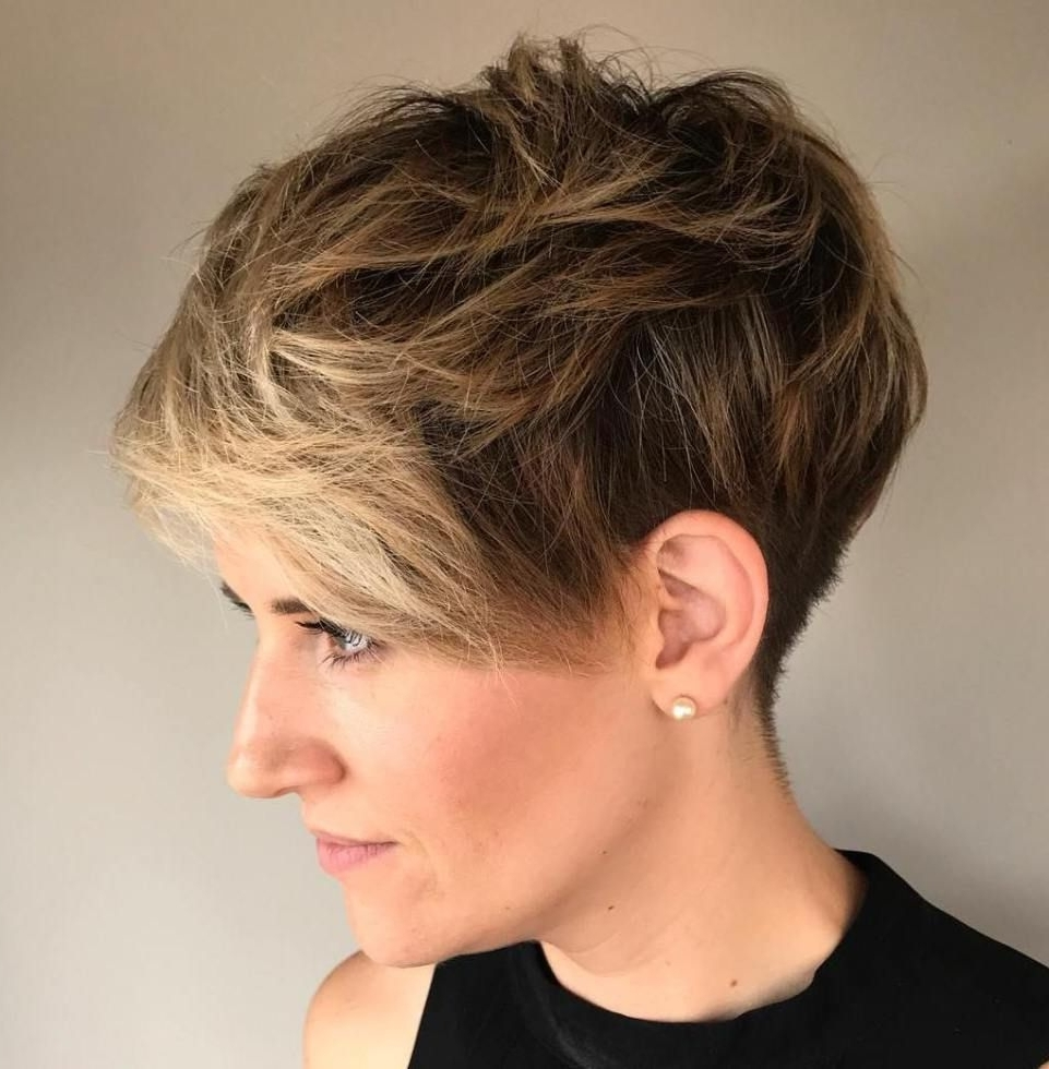 Pixies Throughout Preferred Messy Tapered Pixie Hairstyles (View 14 of 20)