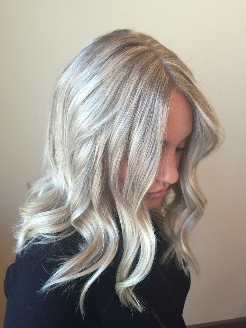 Platinum Blonde Hair Color Light Icy Ash Highlight Lowlight Beige With Regard To Most Up To Date Ash Blonde Lob With Subtle Waves (View 6 of 20)