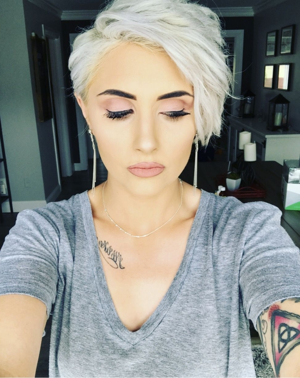 Featured Photo of Bleach Blonde Pixie Hairstyles