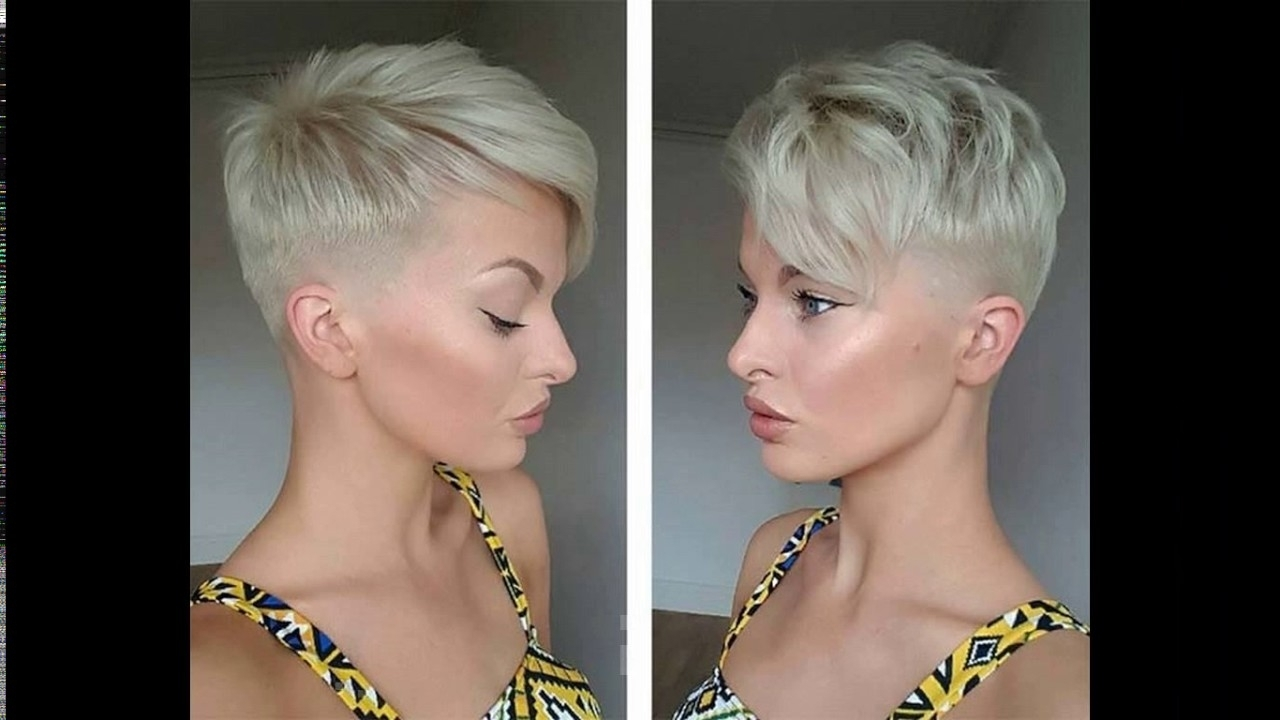 Platinum Blonde Short Haircuts – Youtube Throughout Most Recently Released Bleach Blonde Pixie Hairstyles (View 7 of 20)