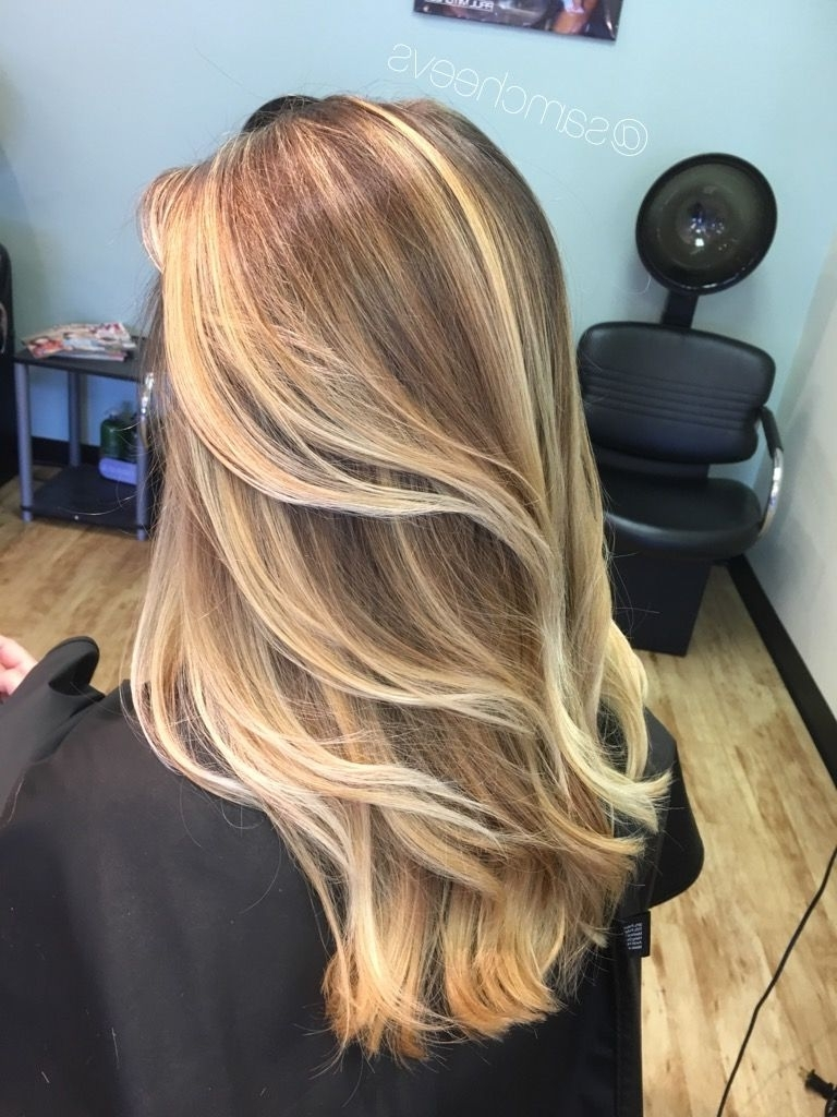 Platinum Honey Warm White Blonde Highlights Balayage For Long Dirty With Regard To Preferred Brunette Hairstyles With Dirty Blonde Ends (View 17 of 20)