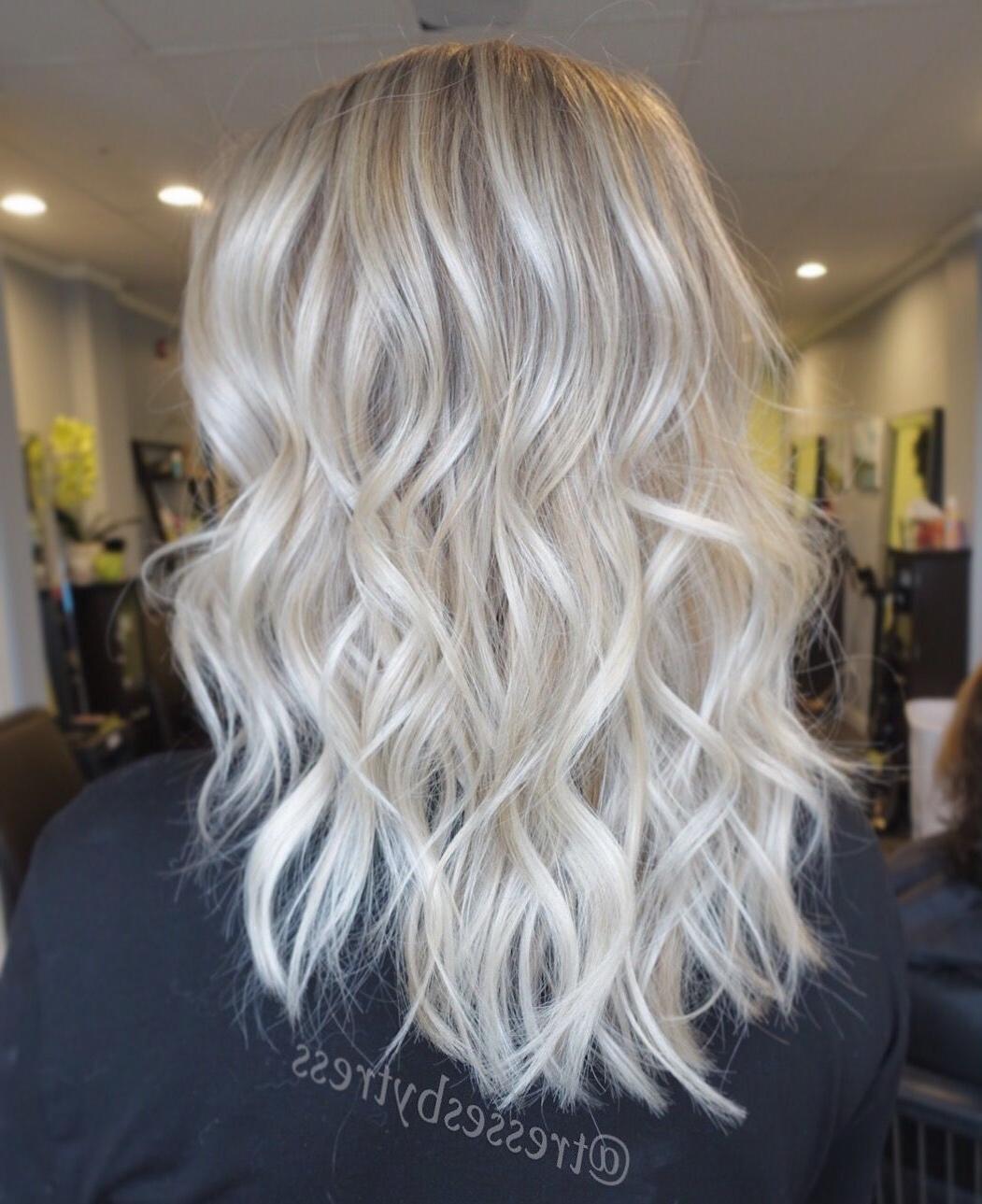 Platinum White Blonde Balayage … (View 16 of 20)