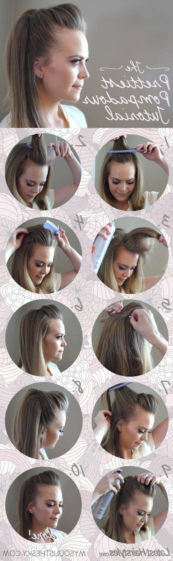 Pompadour Hairstyle Intended For Fashionable Pompadour Pony Hairstyles (View 12 of 20)