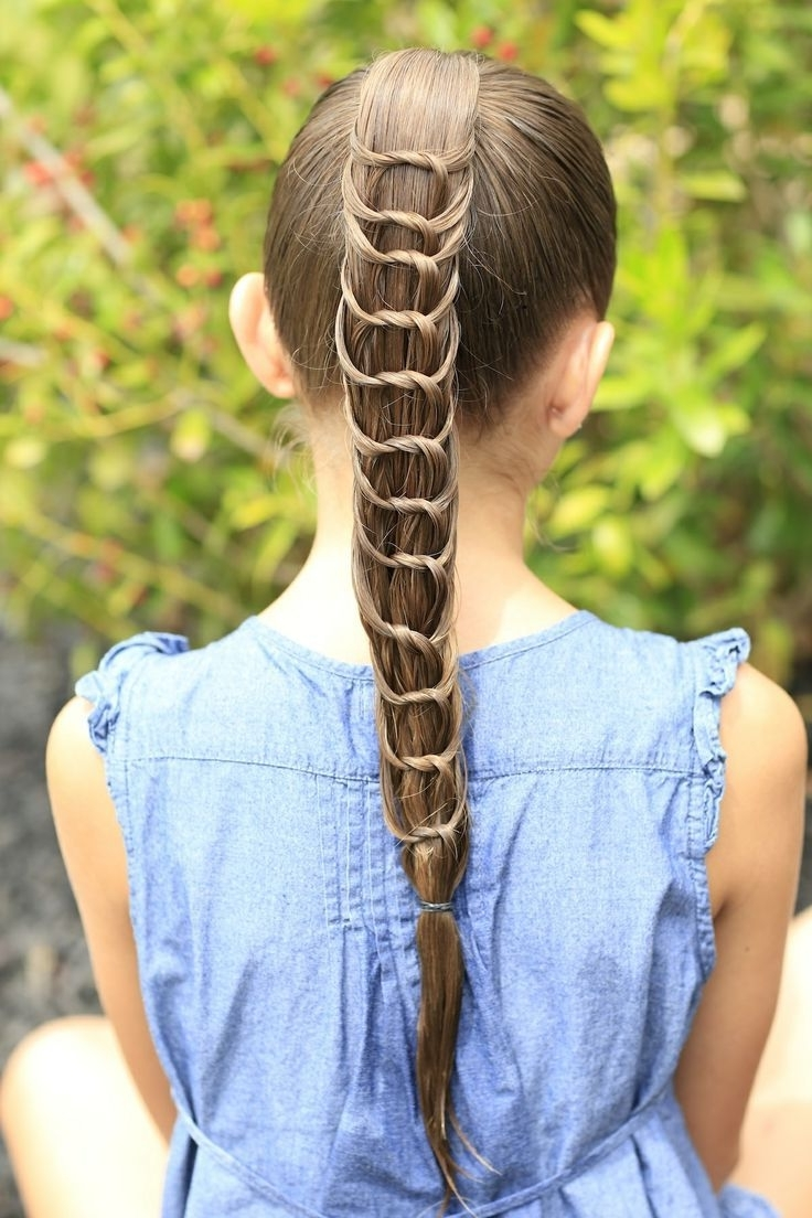 Ponytail And Crazy Hairstyles Intended For Newest Braided And Knotted Ponytail Hairstyles (View 14 of 20)