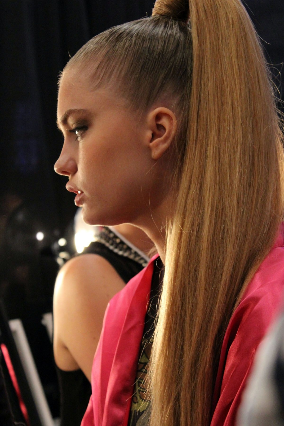 Ponytail Hairstyle Miami Beach Fashion Week Swim Sleek High Ponytail Throughout Most Recently Released High And Glossy Brown Blonde Pony Hairstyles (View 18 of 20)