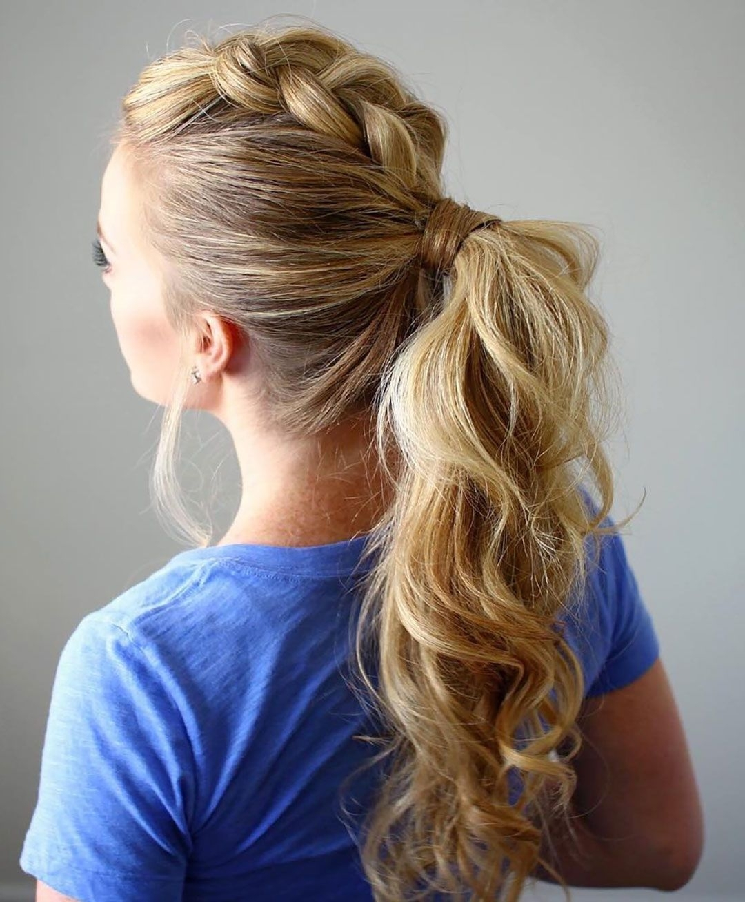 Ponytail Hairstyles – 5 Easy Ponytail Looks For The Work Week Throughout Latest Dutch Inspired Pony Hairstyles (View 16 of 20)