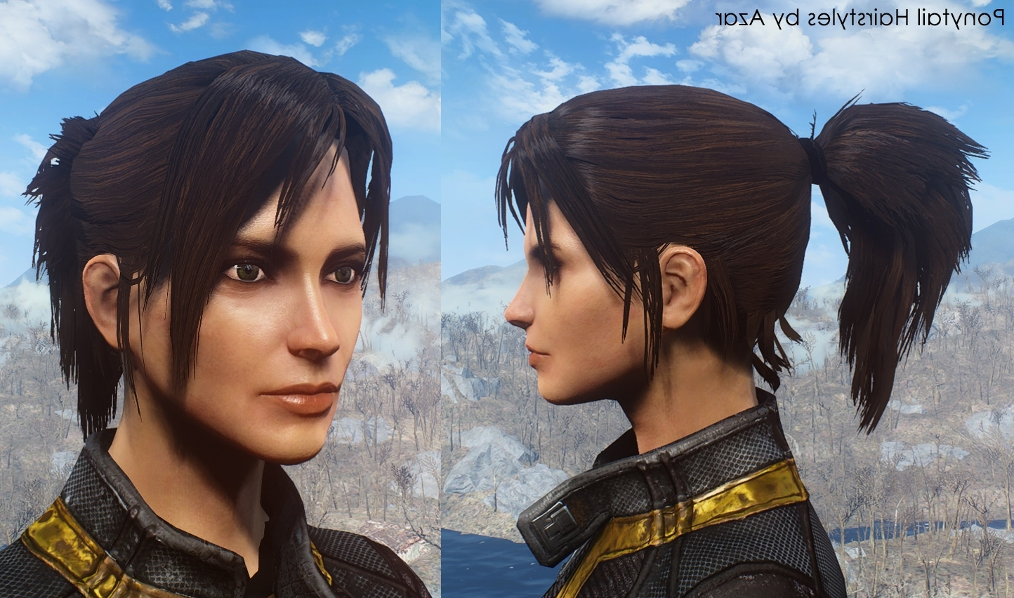 Ponytail Hairstylesazar Fo4 Mod Download In Current Mod Ponytail Hairstyles (View 12 of 20)