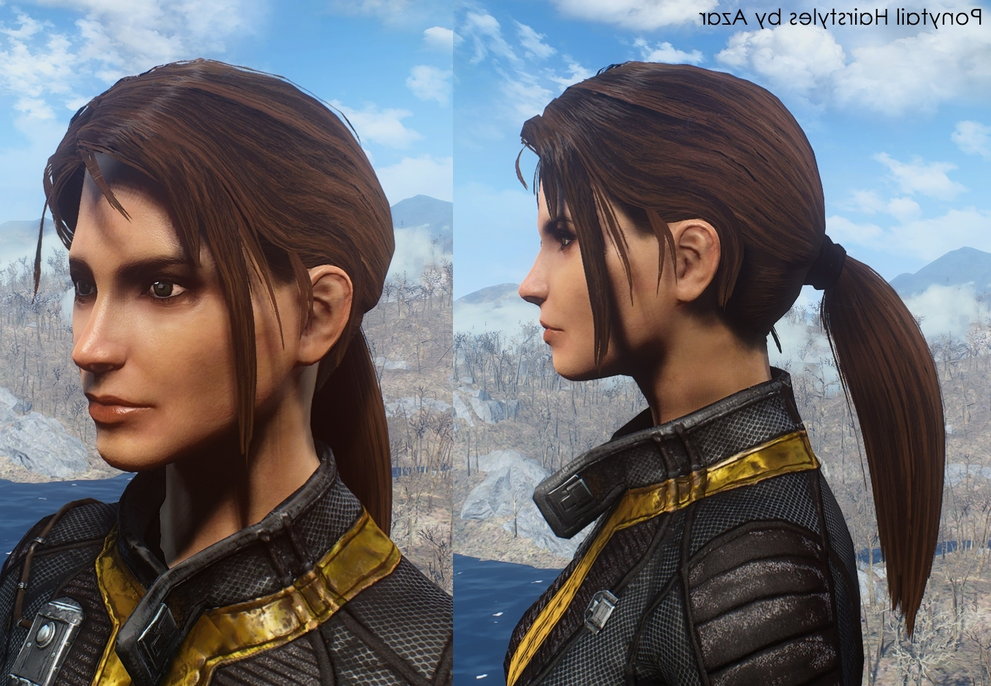 Ponytail Hairstylesazar Fo4 Mod Download Regarding Most Recently Released Mod Ponytail Hairstyles (View 13 of 20)