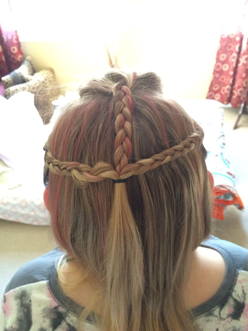 Ponytail Inside Most Popular Three Braids To One Ponytail Hairstyles (View 4 of 20)