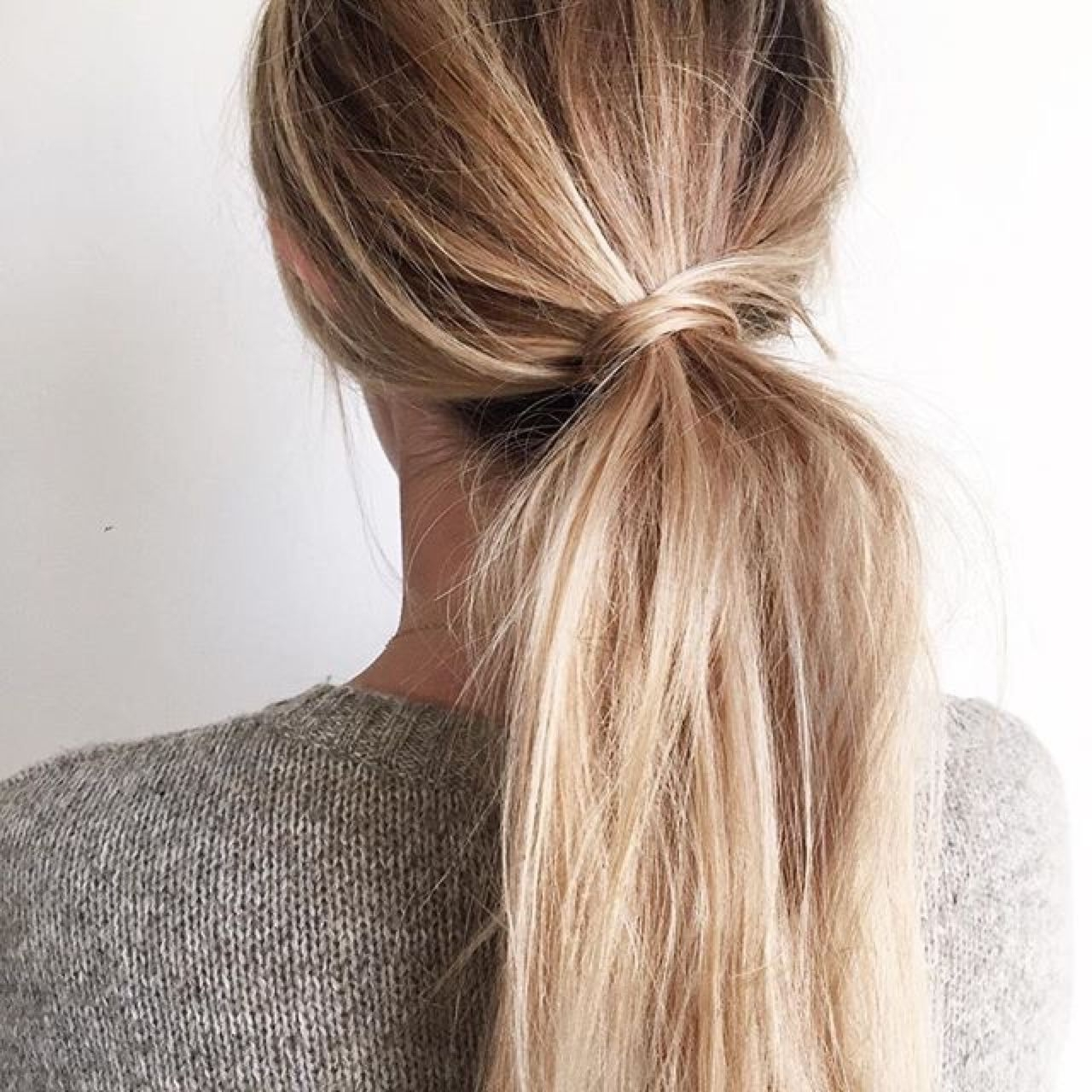 Ponytail, Messy Low With Regard To Latest Full And Fluffy Blonde Ponytail Hairstyles (View 7 of 20)