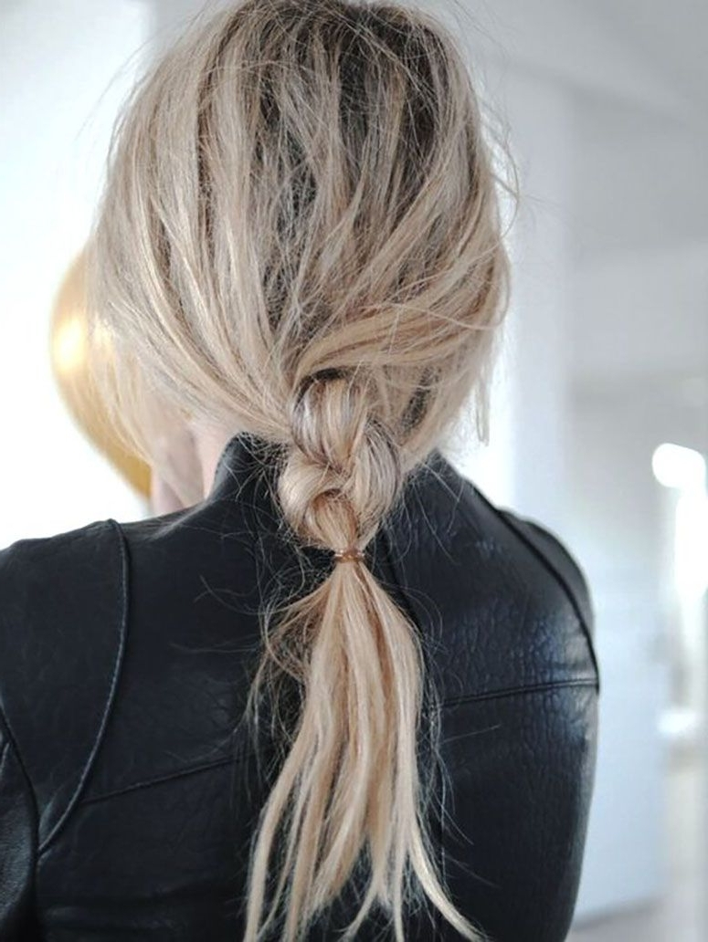 Ponytail Regarding Well Liked Knotted Ponytail Hairstyles (View 14 of 20)