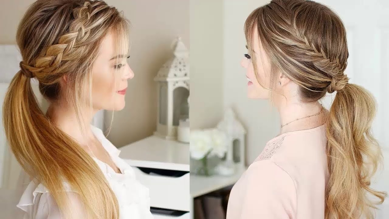 Ponytail With Braids For Best And Newest Pony Hairstyles With Textured Braid (View 14 of 20)