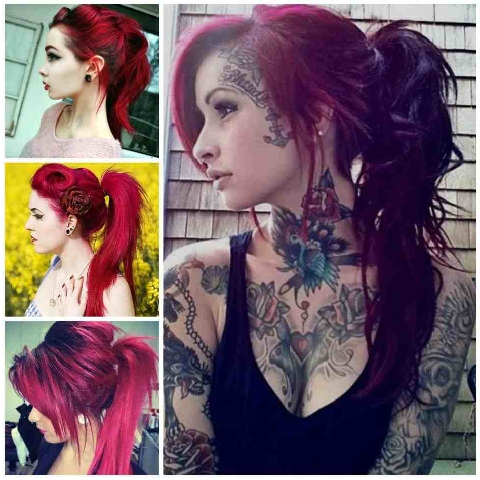Ponytails Hairstyles Punk (View 15 of 20)