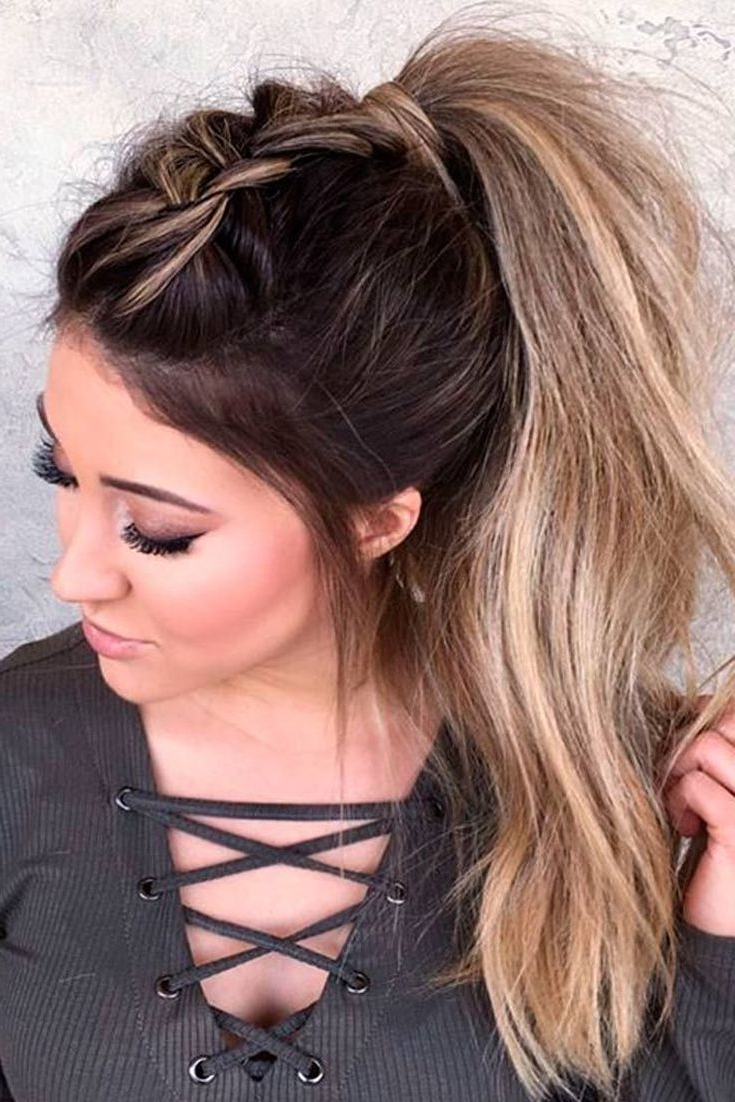 Ponytails Throughout 2018 Sleek And Chic Ringlet Ponytail Hairstyles (View 11 of 20)