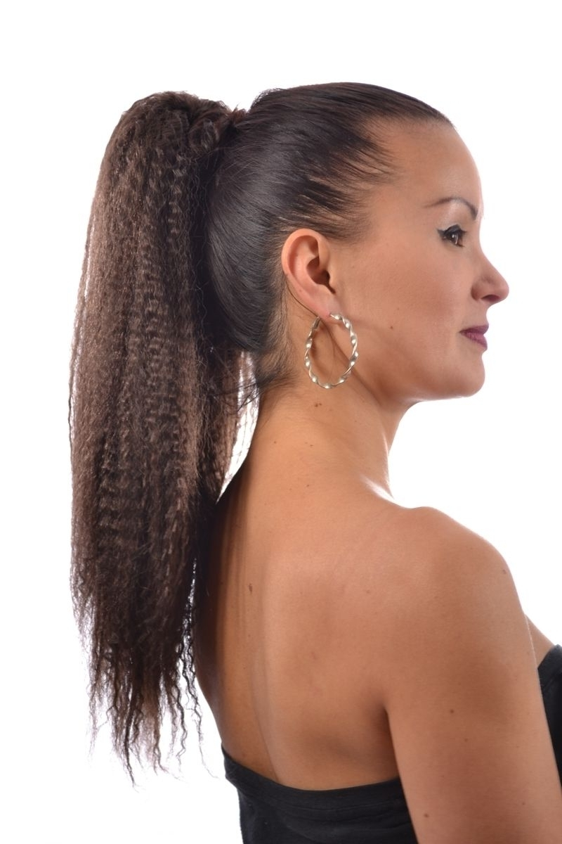 Ponytails Within Fashionable Crimped Pony Look Ponytail Hairstyles (View 18 of 20)