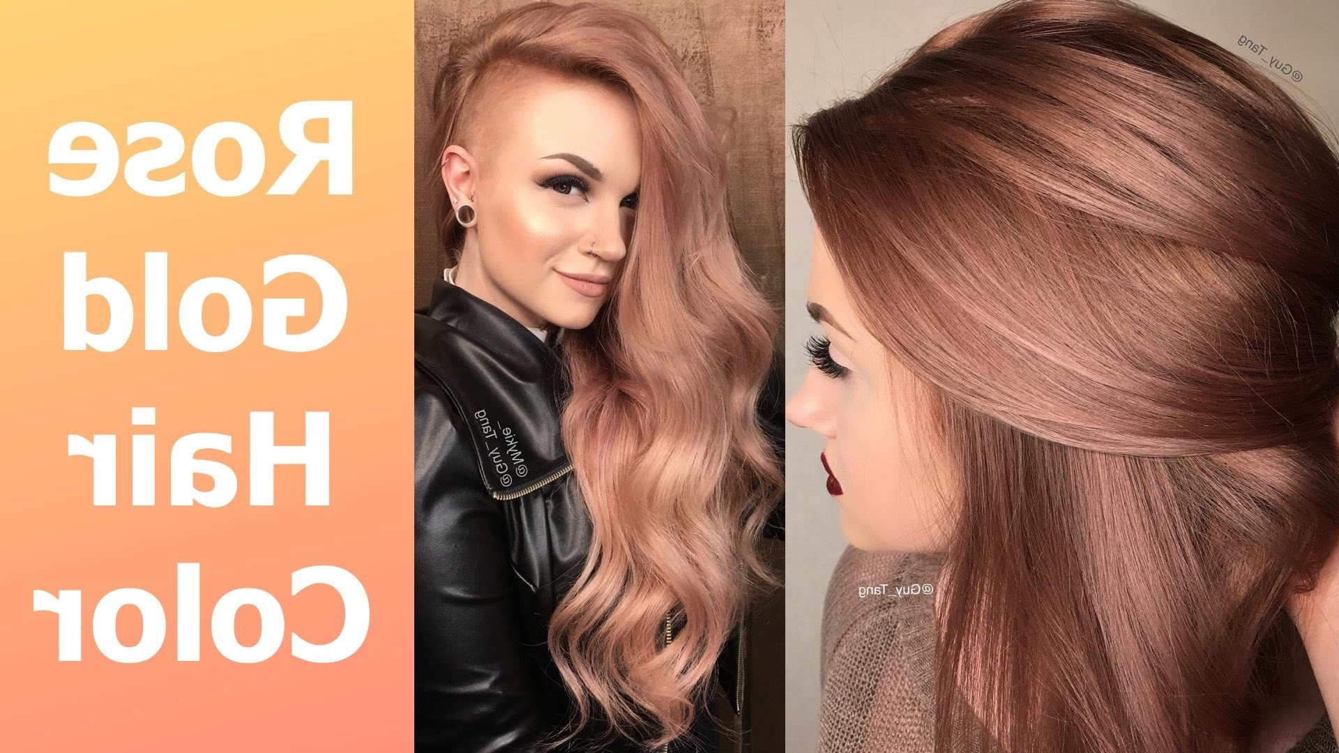 Popular Amber And Gold Blonde Hairstyles In Rose Gold Hair Color – Youtube (View 11 of 20)