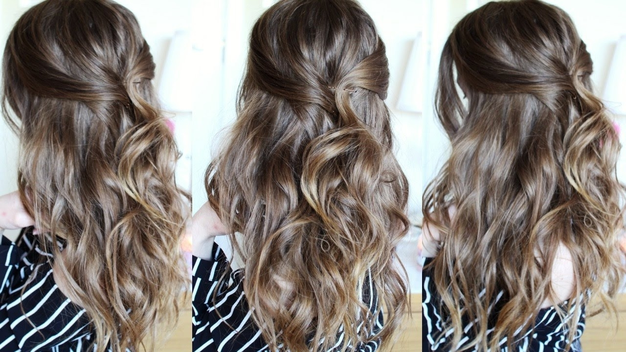 Popular Beachy Half Ponytail Hairstyles With Regard To Half Up Beachy Wave Hair Tutorial (View 17 of 20)