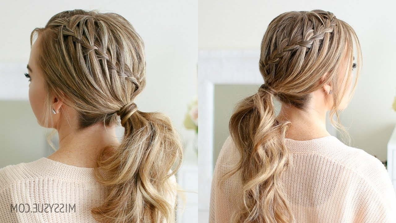 Popular Cascading Ponytail Hairstyles With Regard To Double Waterfall Ponytail (View 17 of 20)