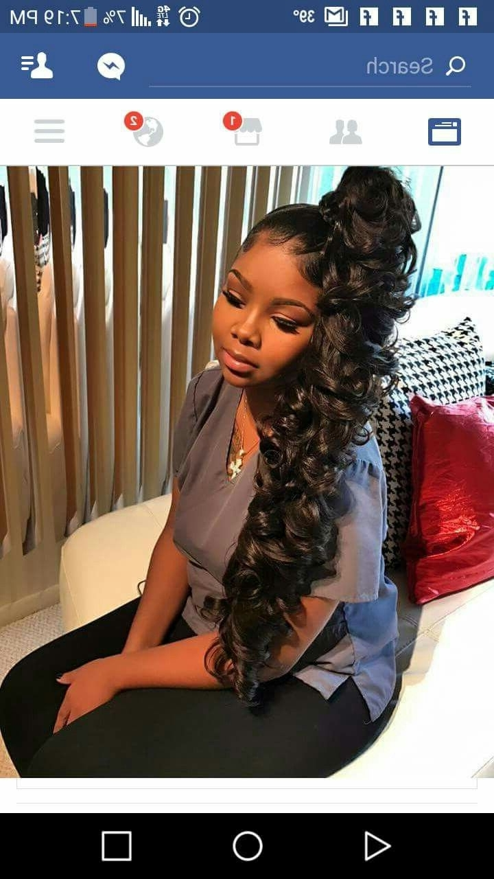 Popular High Black Pony Hairstyles For Relaxed Hair Throughout Beauty Hair From Uhair,go To Www (View 17 of 20)