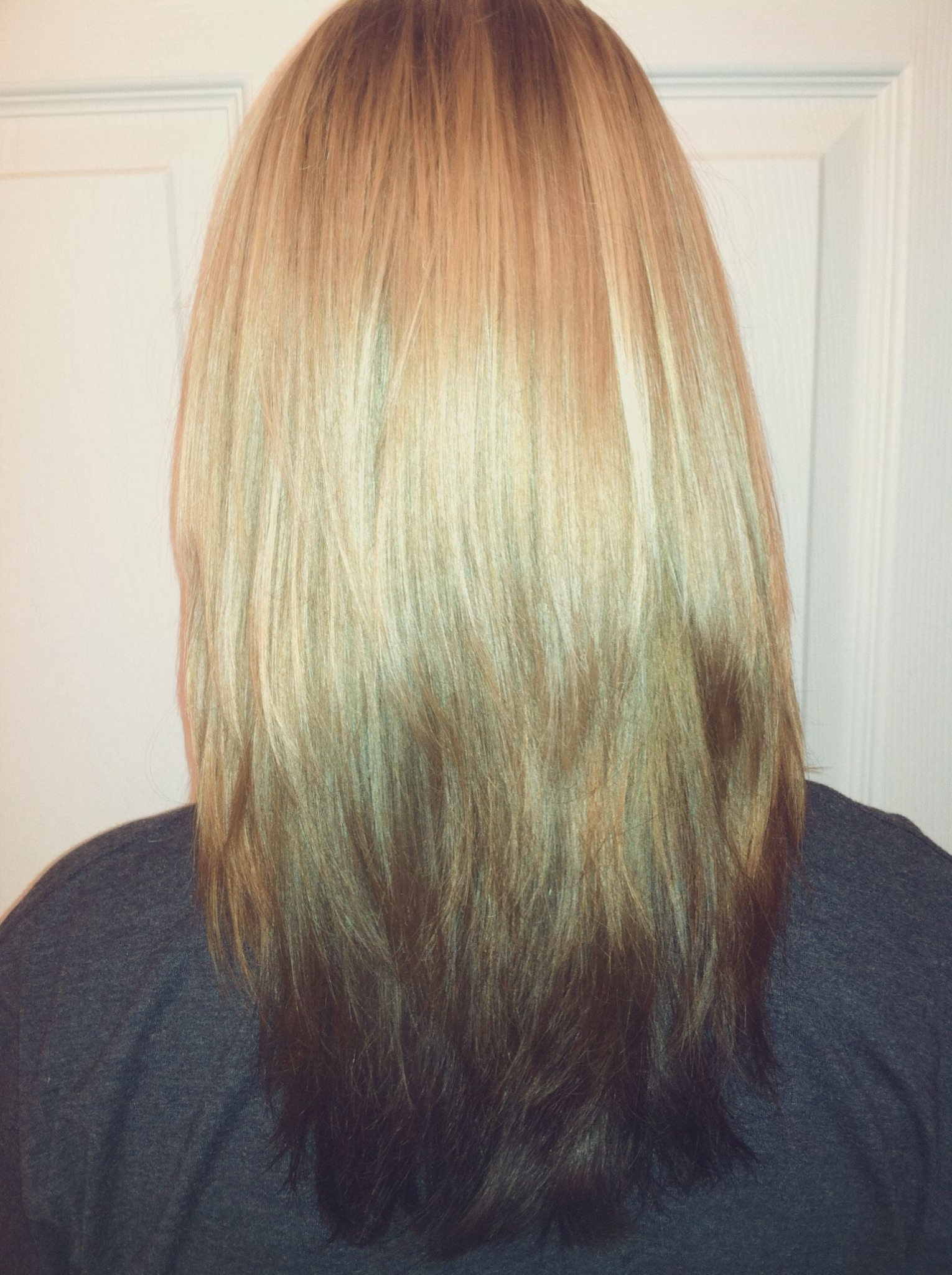 Popular Ombre Ed Blonde Lob Hairstyles Inside Reverse Ombre, Just Not That Dark On Your Ends And A Long Bob (View 17 of 20)