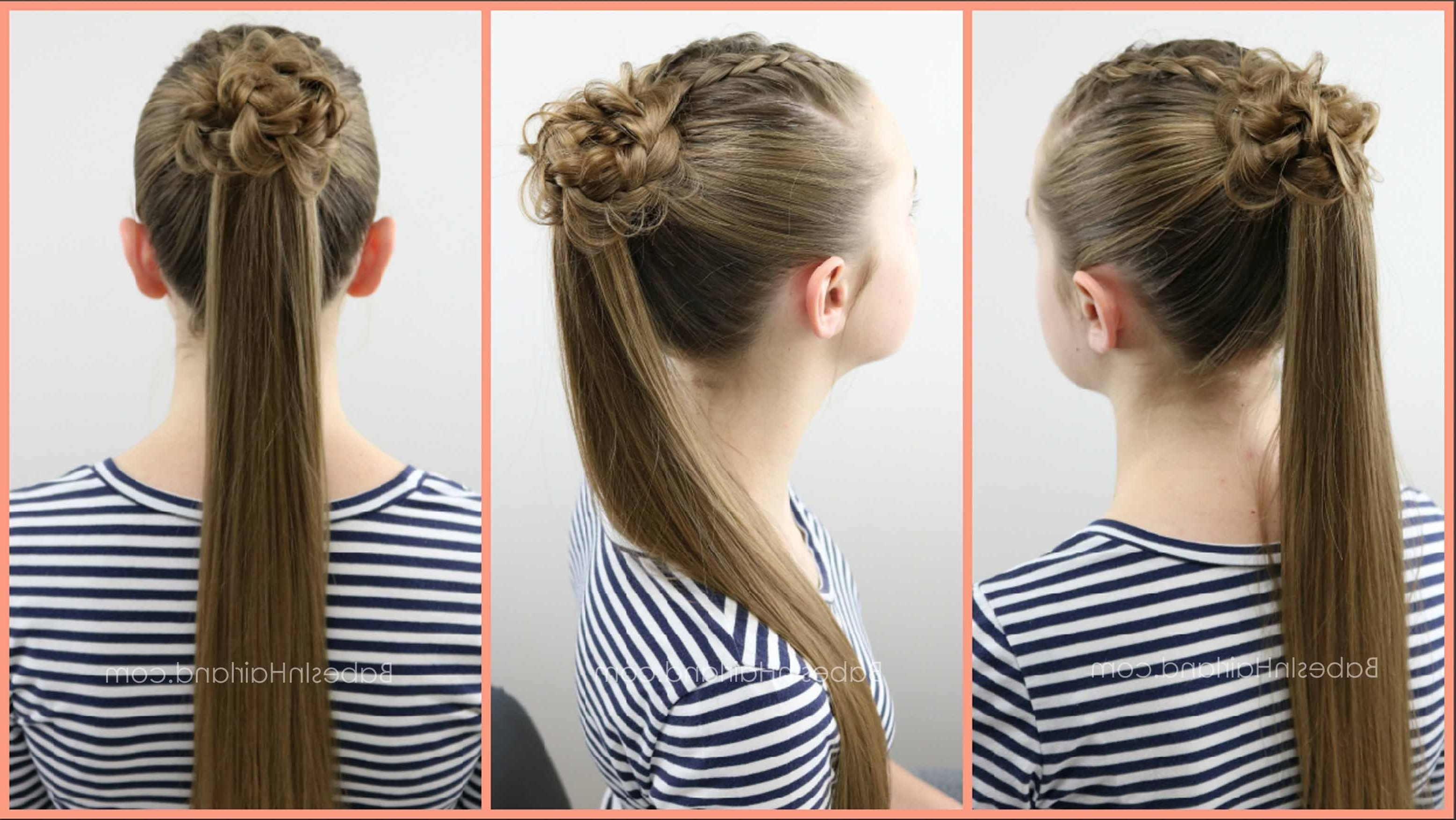 Popular Ponytail Hairstyles With A Braided Element Intended For 2 Dutch Braids 5 Different Hairstyles (View 9 of 20)