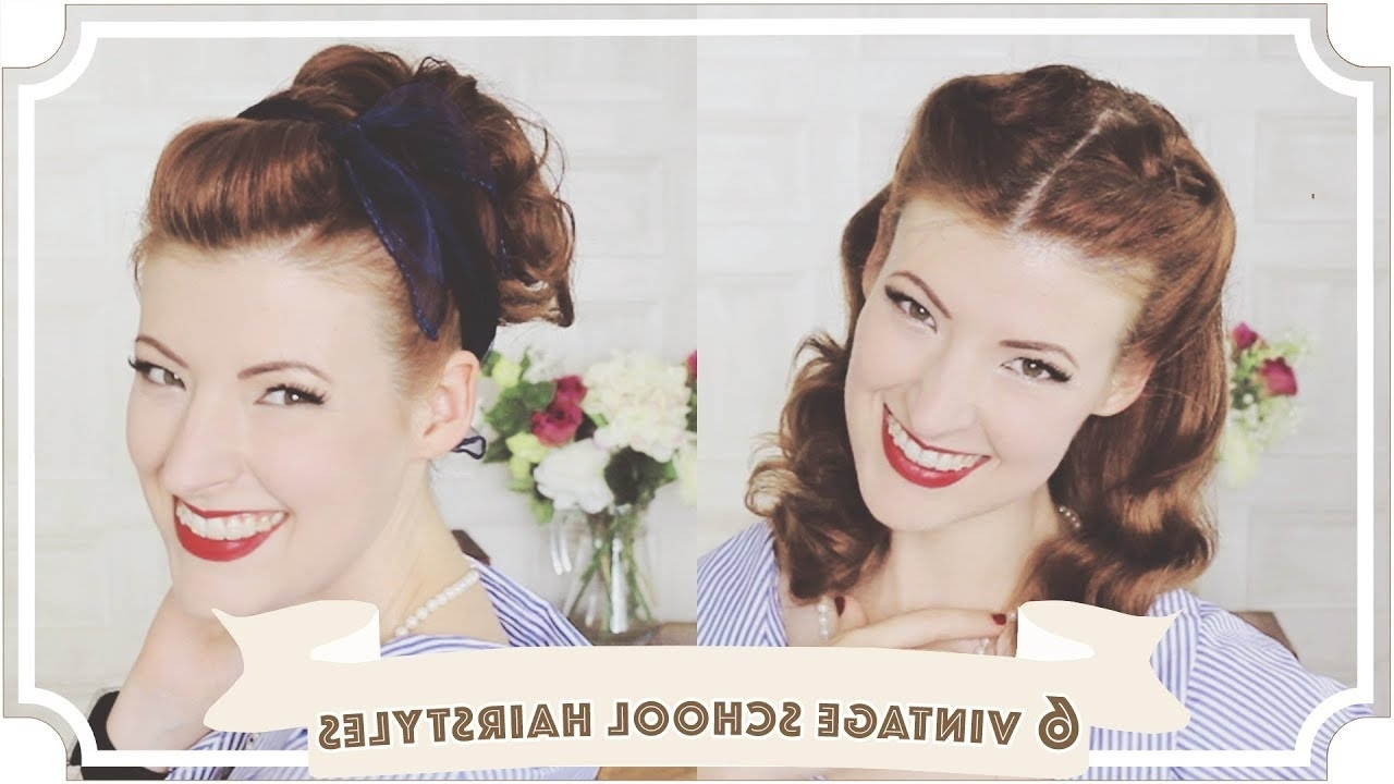 [%Popular Quick Vintage Hollywood Ponytail Hairstyles Throughout 6 Easy Vintage 1950S Back To School Hairstyles [Cc] – Youtube|6 Easy Vintage 1950S Back To School Hairstyles [Cc] – Youtube With Regard To Most Popular Quick Vintage Hollywood Ponytail Hairstyles%] (View 15 of 20)