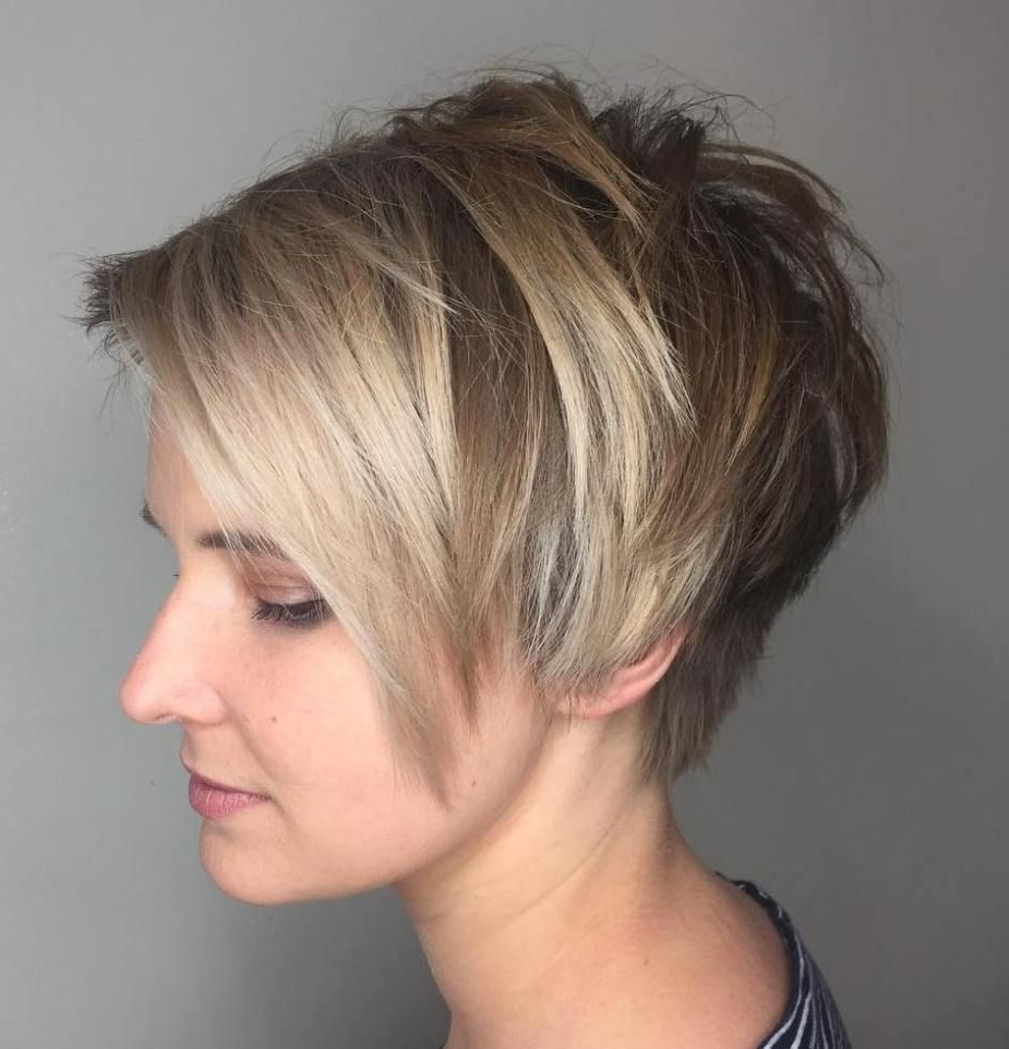 Popular Side Parted Blonde Balayage Pixie Hairstyles Within 70 Short Shaggy, Spiky, Edgy Pixie Cuts And Hairstyles (View 2 of 20)