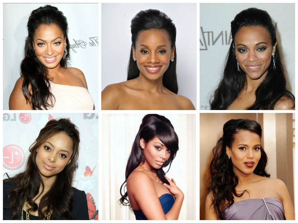 Popular Sleek Half Up Half Down Pony Hairstyles For Popular Wedding Hairstyle Ideas For Black Women – Hair World Magazine (View 15 of 20)