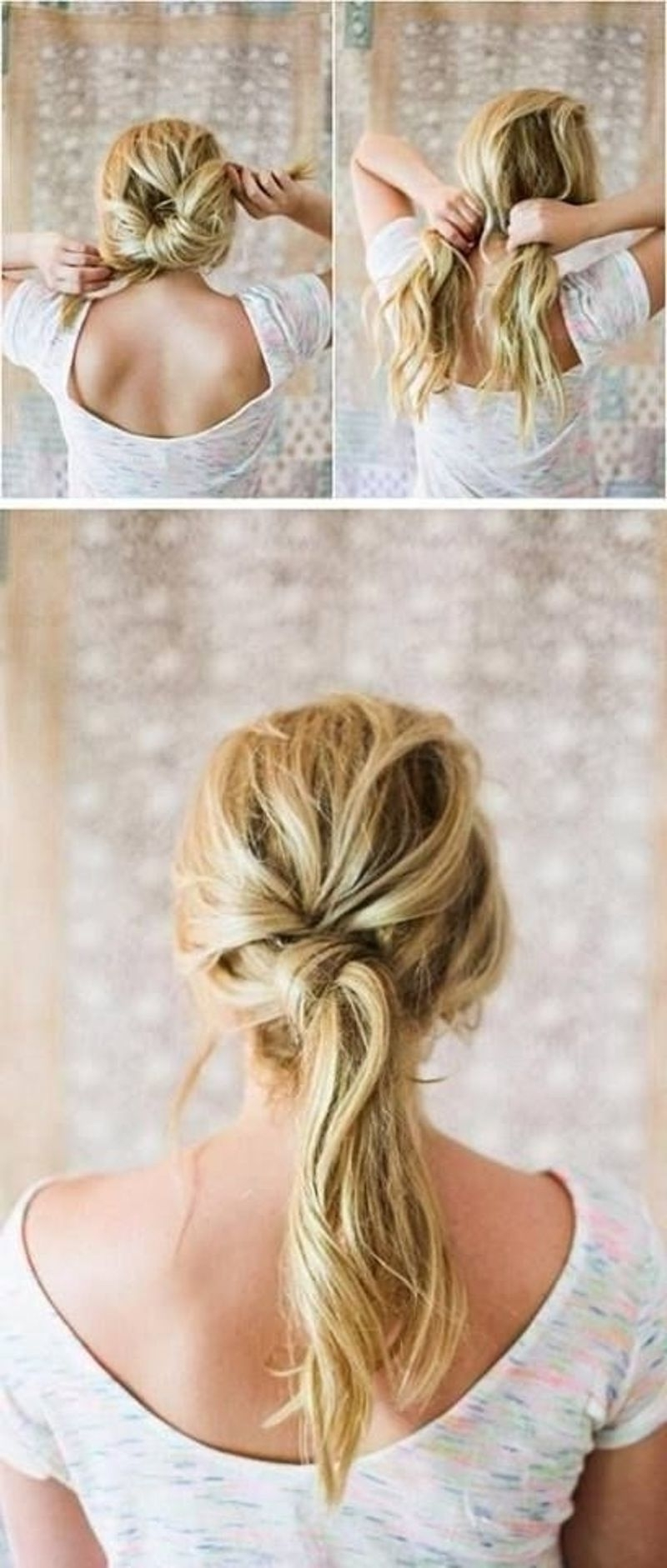 Popular Twisted And Tousled Ponytail Hairstyles Pertaining To  (View 13 of 20)