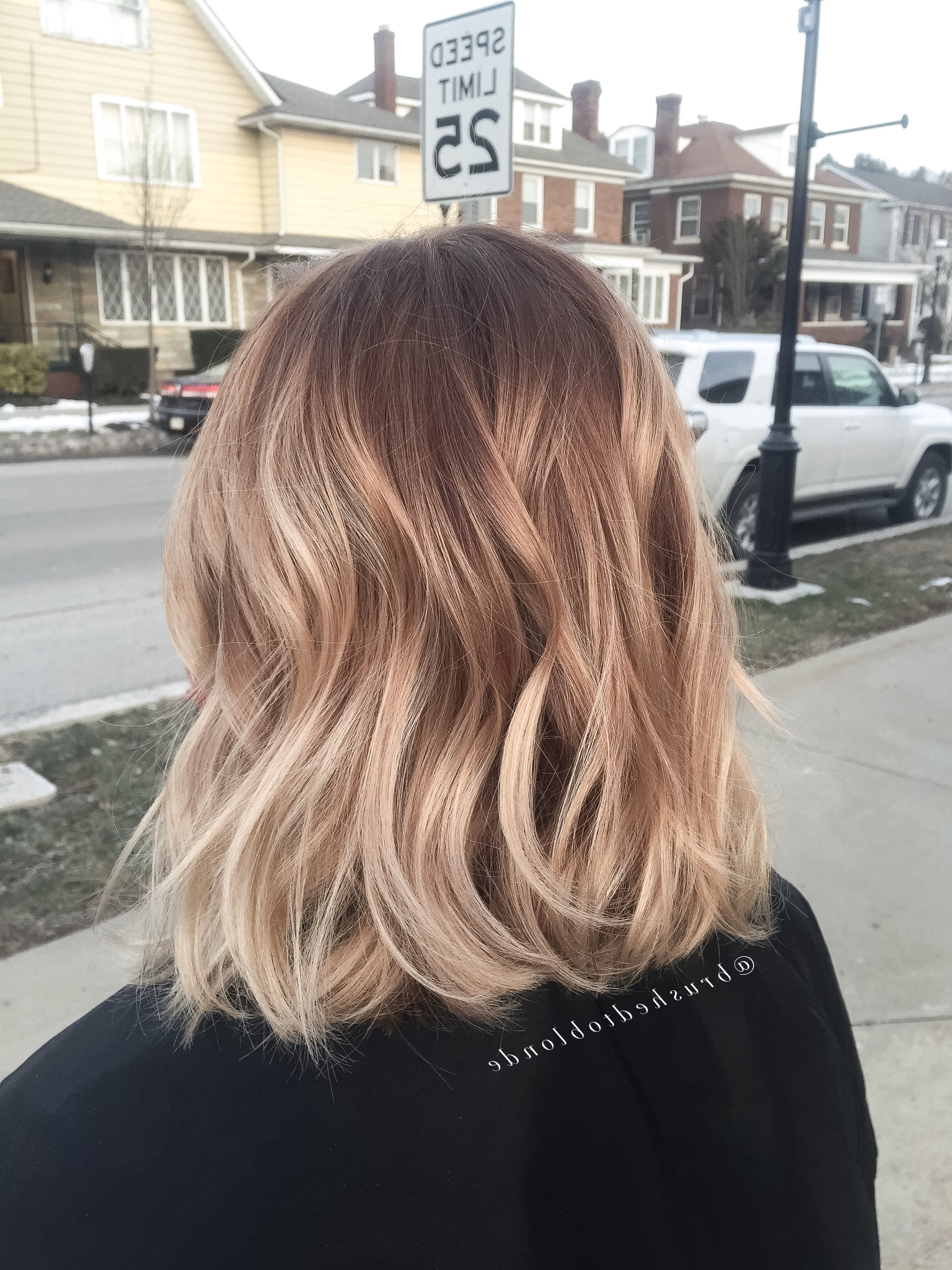 Popular White Blonde Hairstyles For Brown Base With Regard To Honey Blonde Balayage Over A Warm Copper Brown Basedanielle Hess (View 17 of 20)