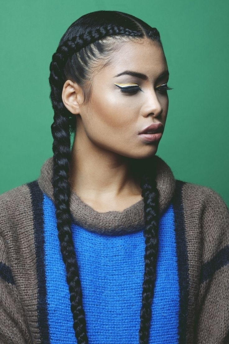 Preferred A Layered Array Of Braids Hairstyles With Plaits Braids Black Hair (View 16 of 20)