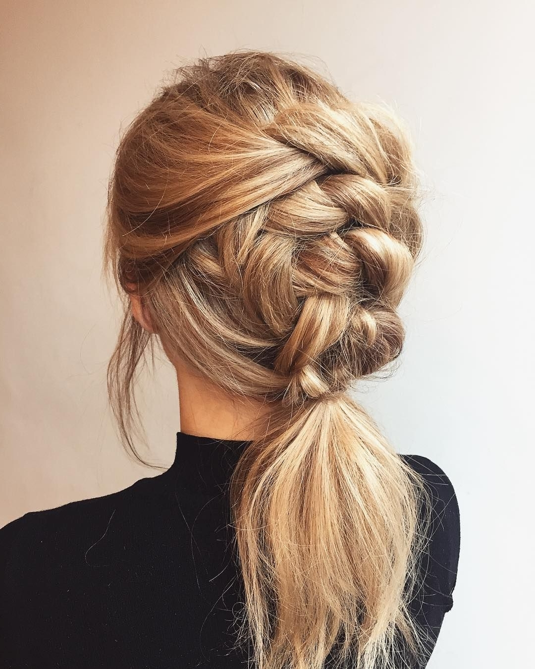 Preferred Braided And Knotted Ponytail Hairstyles Intended For Four Strand Knotted Ponytail : Featured Hairstyle Inspiration (View 16 of 20)