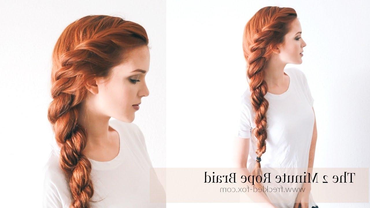 Preferred Braided Boho Locks Pony Hairstyles Within The 2 Minute Rope Braid Hairstyle Hairstyle (View 15 of 20)