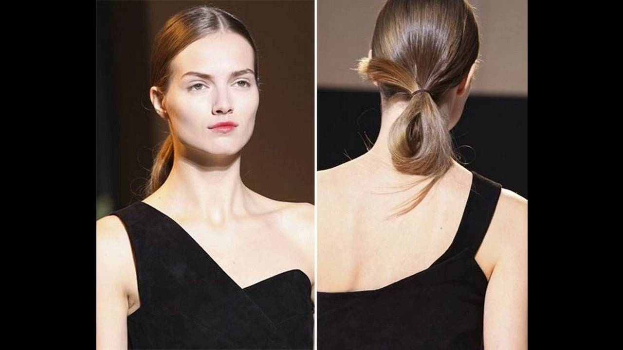 Preferred Center Parted Pony Hairstyles Intended For Loose And Sleek Center Part Ponytail Middle Parting Hairstyle Is (View 17 of 20)