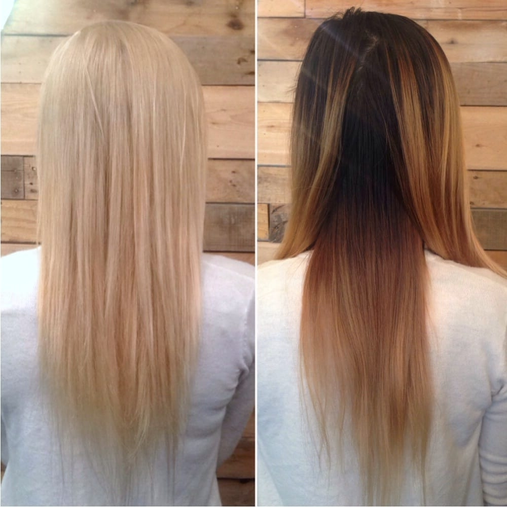 Preferred Grown Out Platinum Ombre Blonde Hairstyles In From A Grown Out Brassy Ombré To Platinum Blonde! Thanks Olaplex For (View 15 of 20)