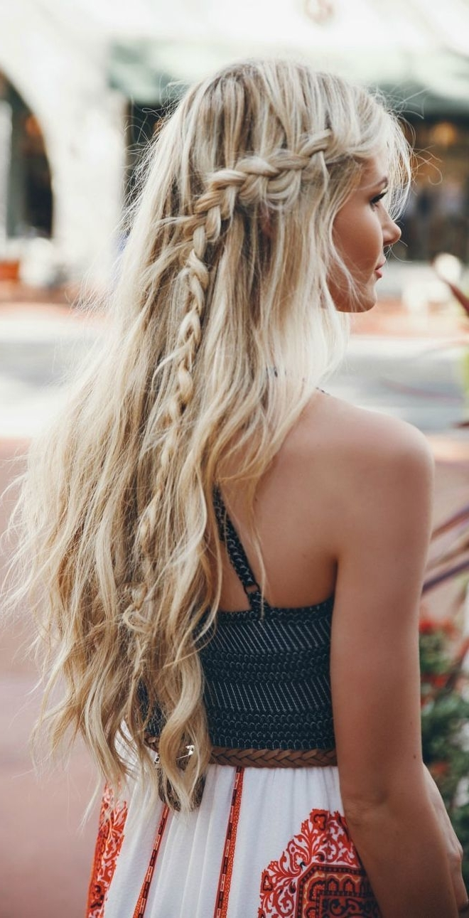Preferred High And Glossy Brown Blonde Pony Hairstyles Within 30 Boho Chic Hairstyles You Must Love (View 6 of 20)