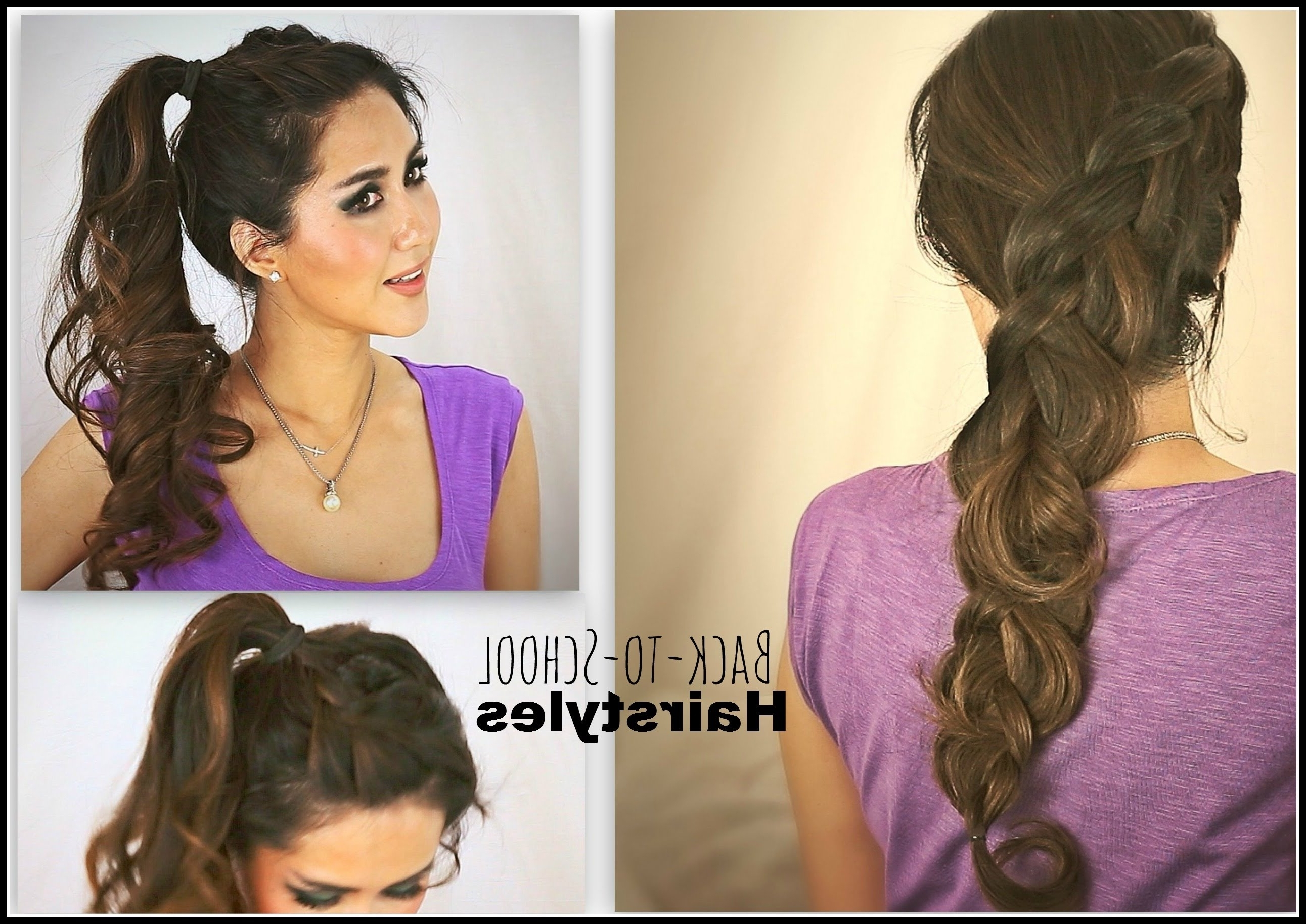 Preferred Long Braided Ponytail Hairstyles With Bouffant Regarding ☆2 Cute School Hairstyles (View 11 of 20)