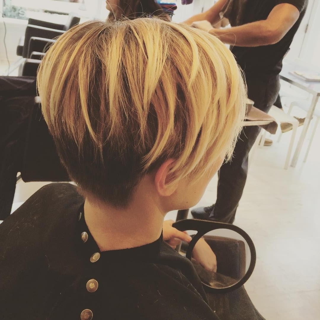 Featured Photo of Long Honey Blonde And Black Pixie Hairstyles
