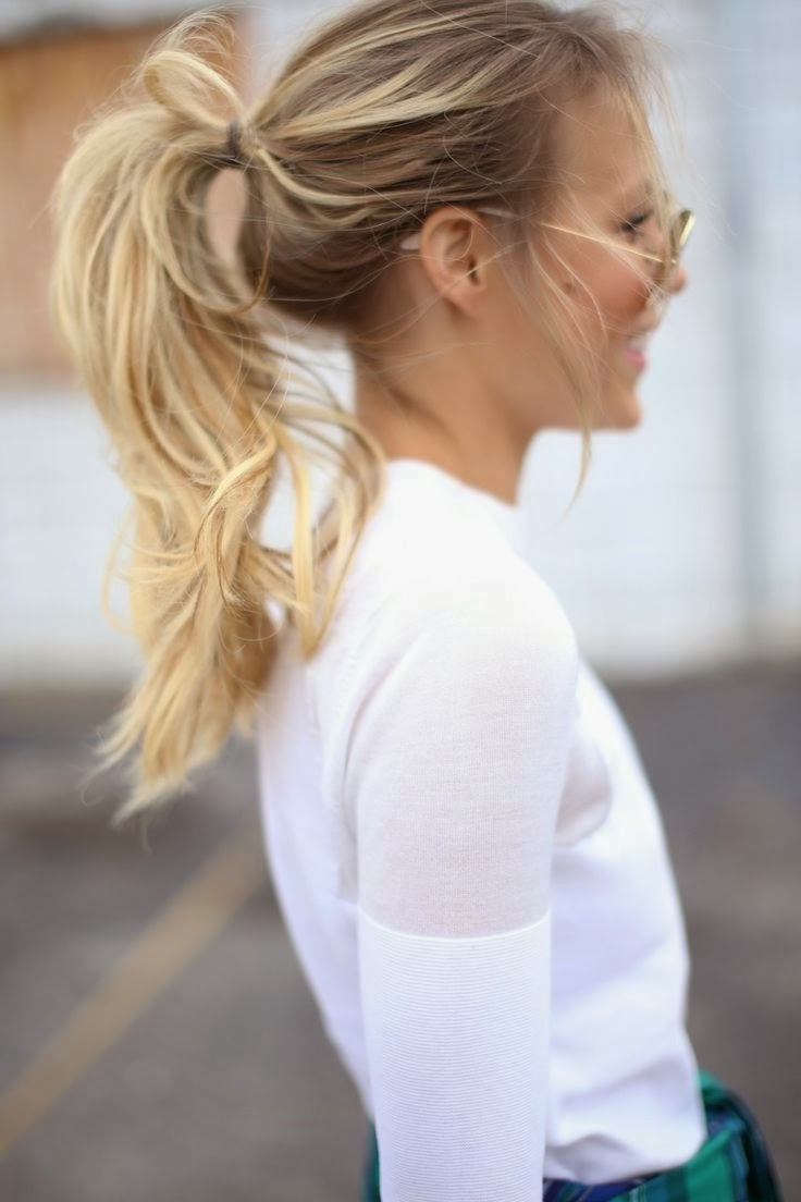 Preferred Messy Ponytail Hairstyles Inside Hair Style: Messy Ponytail (View 4 of 20)