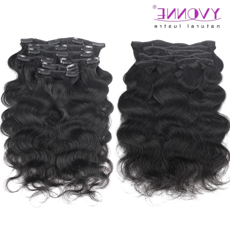 Preferred Natural Color Waves Hairstyles With Regard To China Brazilian Hair Body Wave Clip In Hair Extensions Natural Color (View 10 of 20)