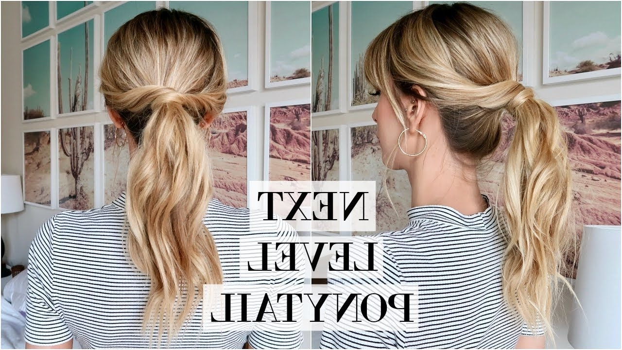 Preferred Pebbles Pony Hairstyles Intended For Perfect Messy Ponytail Tutorial (View 13 of 20)