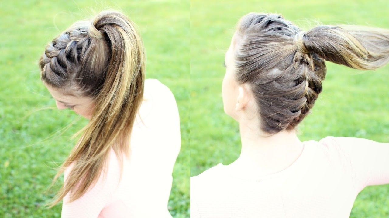 Preferred Reverse French Braid Ponytail Hairstyles In Upside Down French Braid Ponytail (View 1 of 20)