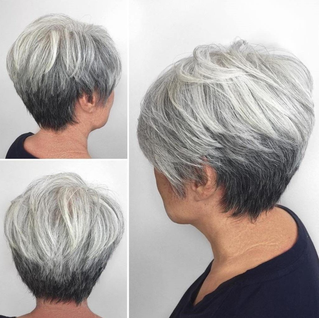 Featured Photo of Reverse Gray Ombre Pixie Hairstyles For Short Hair