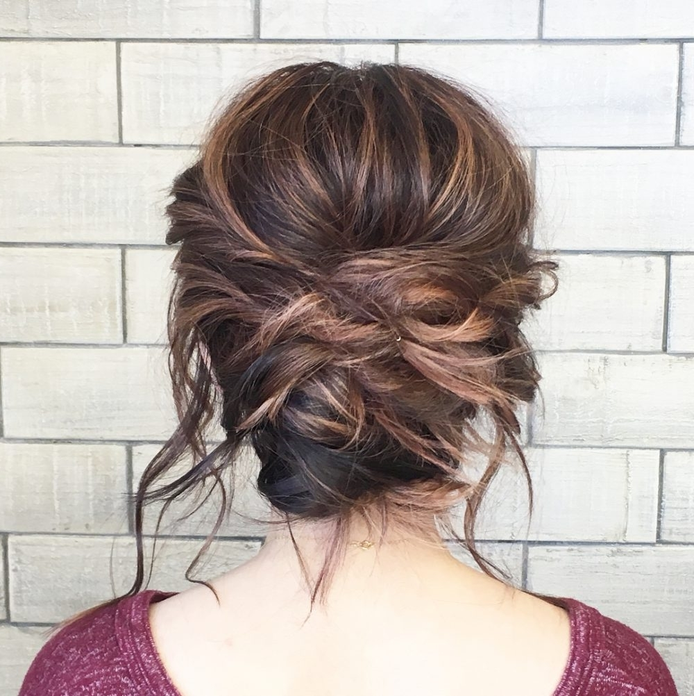 Preferred Romantically Messy Ponytail Hairstyles Intended For 33 Breathtaking Loose Updos That Are Trendy For  (View 16 of 20)