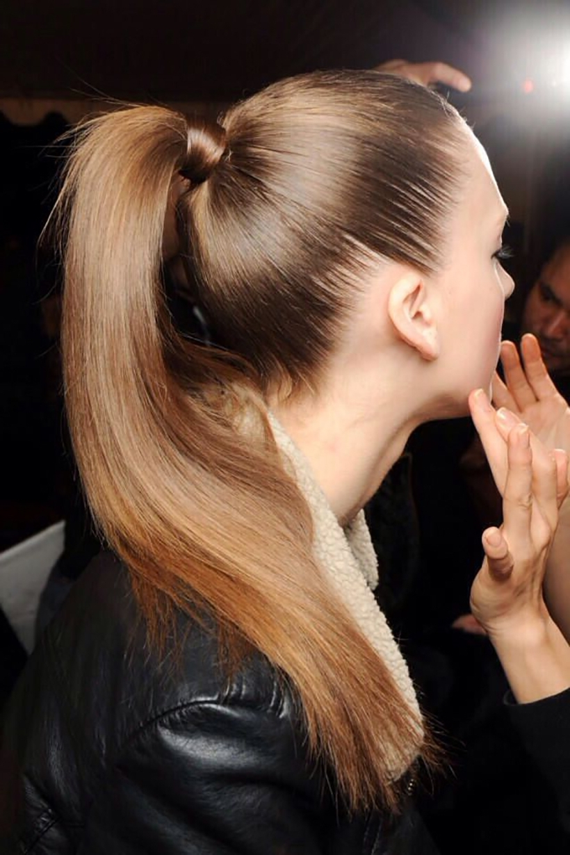 Preferred Sleek And Shiny Ponytail Hairstyles Within How To Get A Runway Perfect Slicked Back Pony – Camille Styles (View 17 of 20)