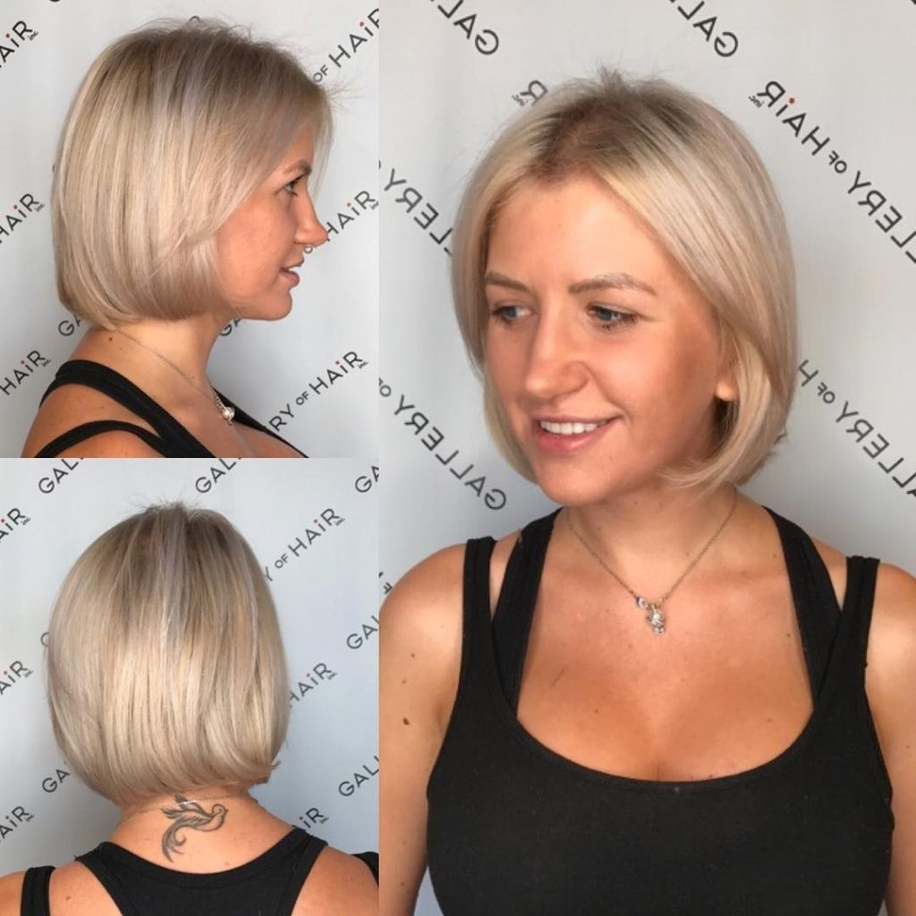 Preferred Sleek Ash Blonde Hairstyles With Women's Platinum Classic Bob With Ash Blonde Lowlights Short Hairstyle (View 17 of 20)