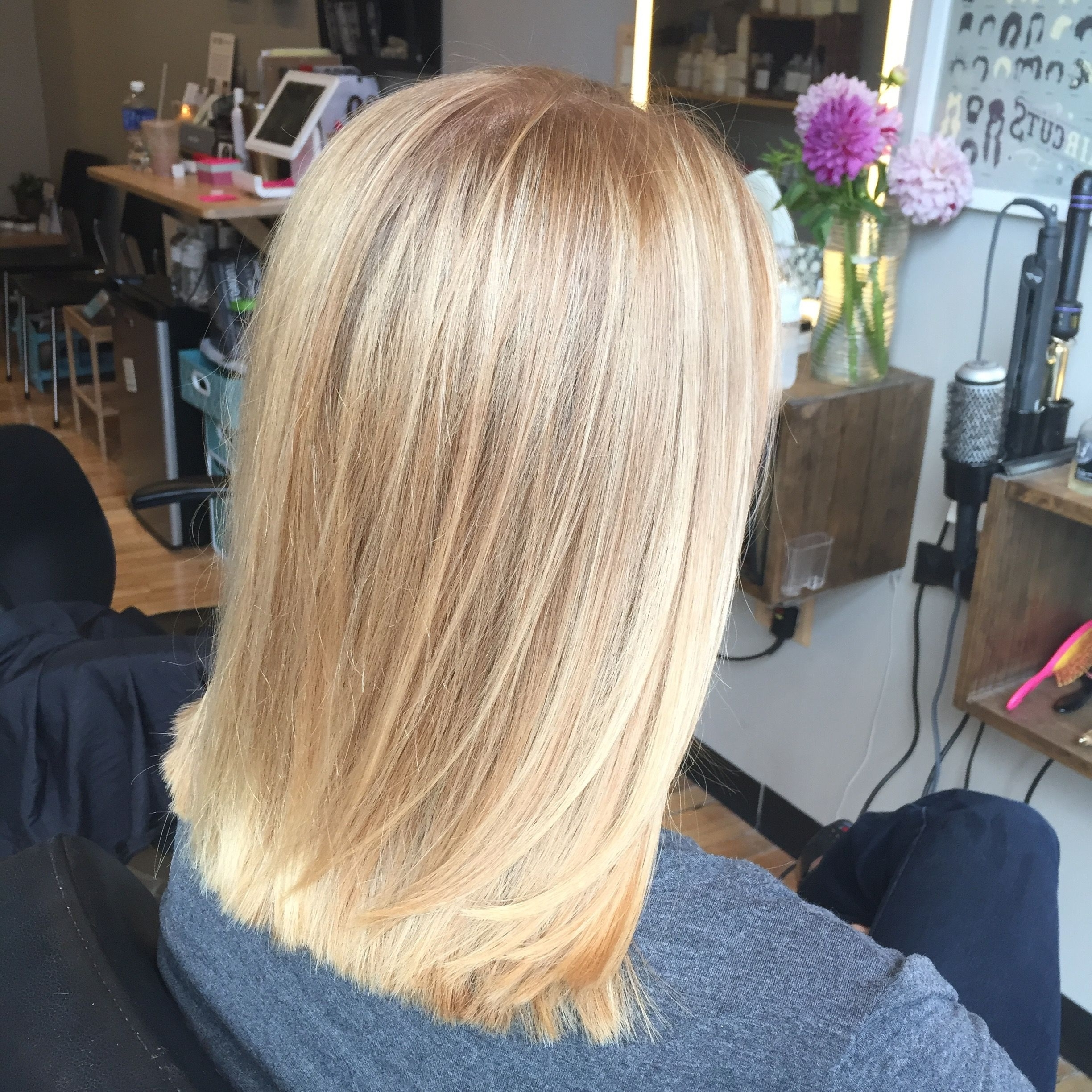Preferred Straight Sandy Blonde Layers Throughout Butter Blonde – Balayage – Hair Painting – Sandy Blonde – Bright (View 15 of 20)